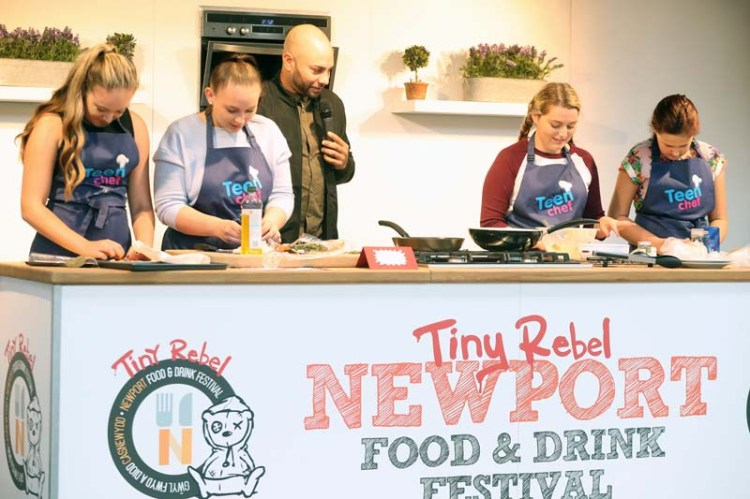 TeenChef Compeitition taking place at Tiny Rebel Newport Food & Drink Festival