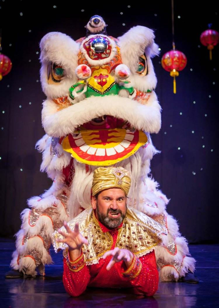 Richard Elis returns to Newport Riverfront in this years pantomime, Aladdin