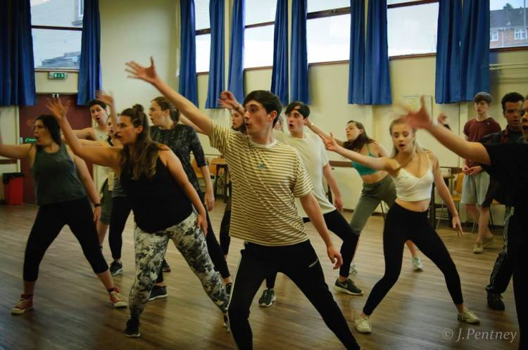 A dance sequence in rehearsal from The Wedding Singer. Photo: J Pentney