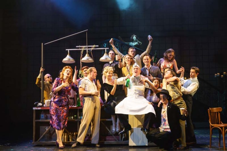 The ensemble cast of sunset Boulevard which plays at Wales Millennium Centre from February 26 to March 3
