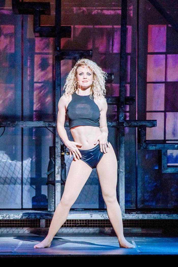 Joanne Clifton gives an energetic performance of Alex in Flashdance - The Musical at Cardiff New Theatre.Photography by Brian Hartley.