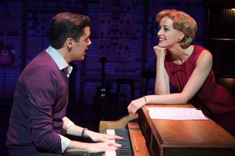 Kane Oliver Parry 'Gerry Goffin' and Amy Ellen Richardson 'Cynthia Weil'. in  Beautiful - The Carole King Musical  coming to Bristol Hippodrome during April 2018 Photo Craig Sugden