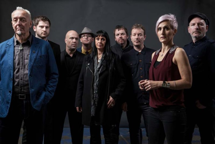 The 2018 version of The South with Gaz Birtles (far left) joining Alison Wheeler (second right) on vocal duties. The band are set to play South wales venues in Porthcawl and cardiff as part of their UK tour.