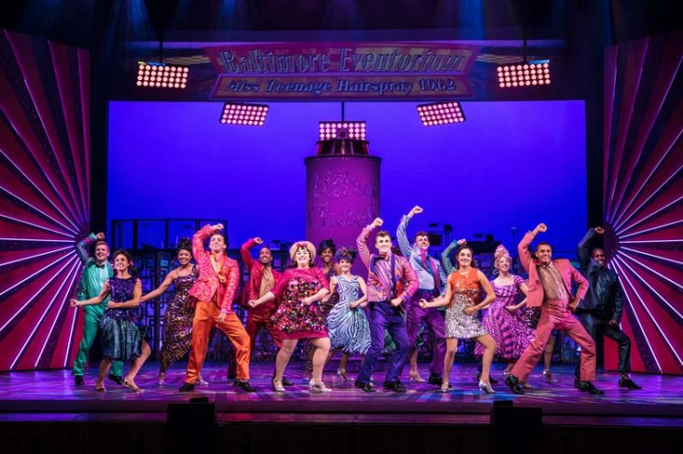 A music routine from the UK tour of Hairspray which plays Bristol Hippodrome