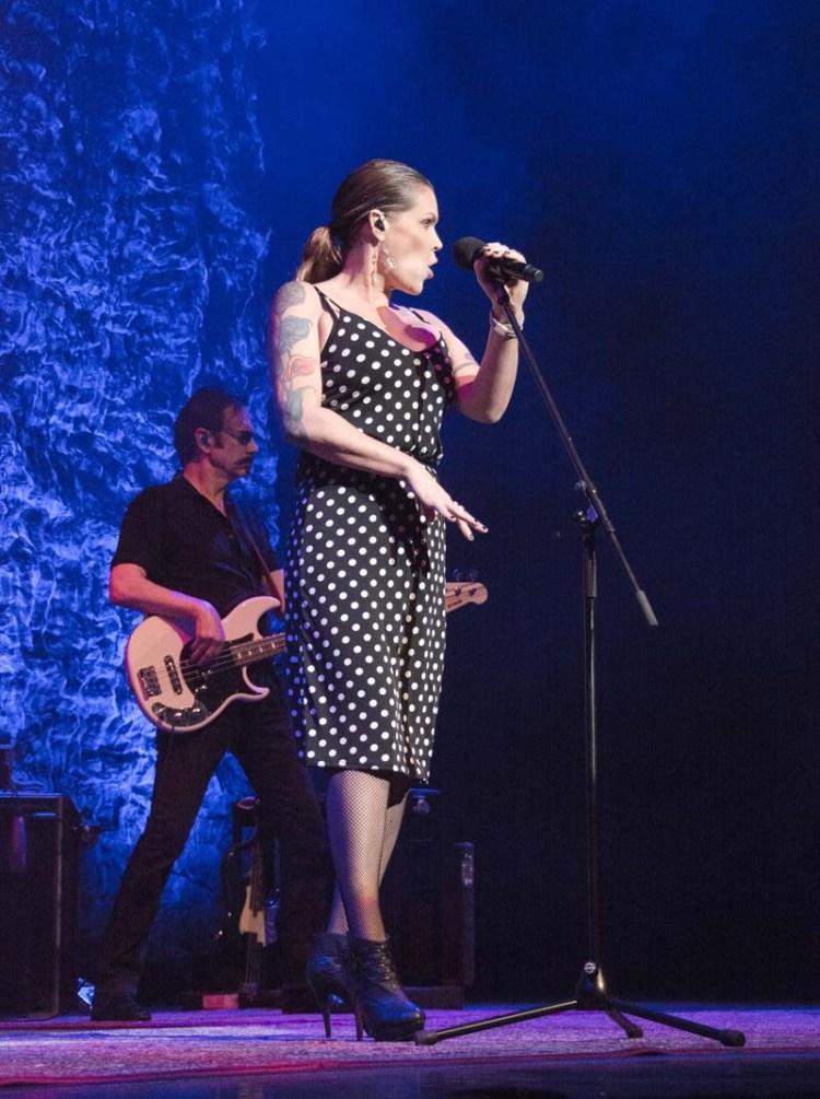Beth Hart performing live at Cardiff's St David's Hall, Photograph: Liz Aitken