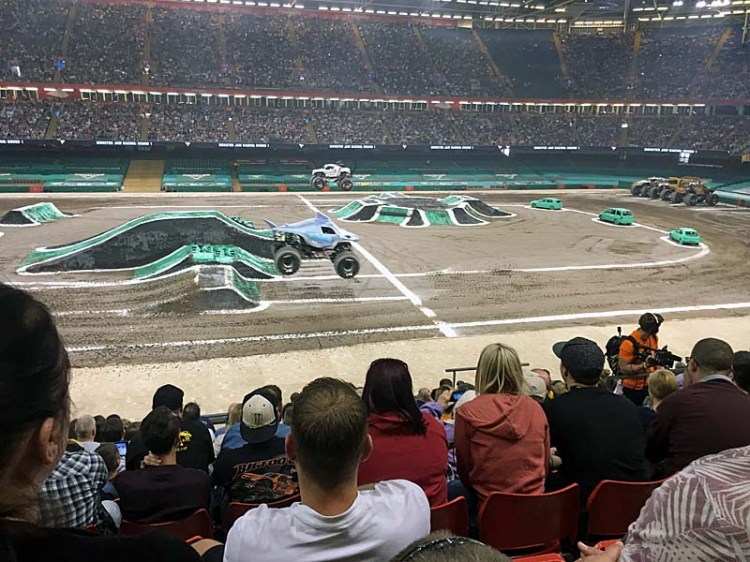 Monster Jam action at Cardiff's Principallity Stadium Photo: Rachel Howells