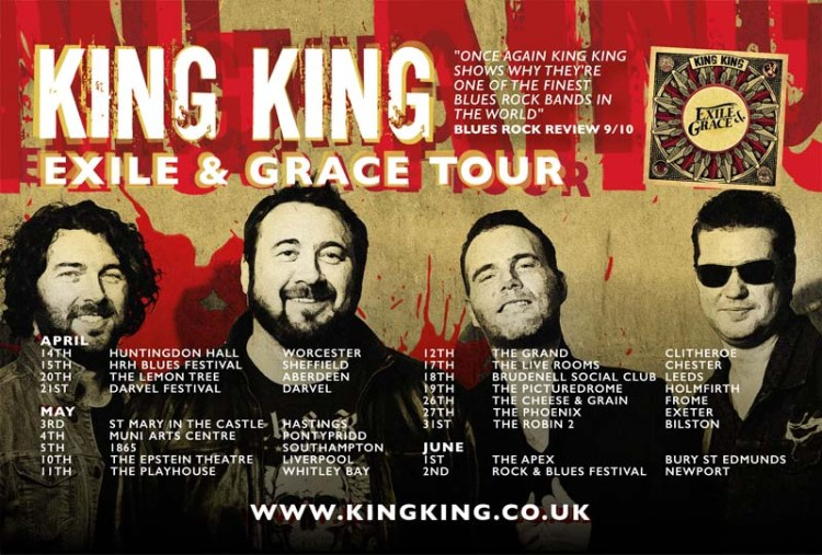 King King are to play both Pontypridd and Newport during May and June, 2018.