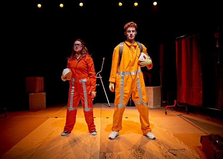 Sian Davies and Jack Hammett in Dirty Protest's Lightspeed From Pembroke Dock