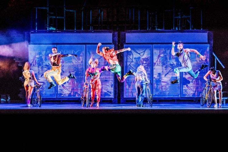 A dance routine performed by the chorus of  Flashdance-The Musical   which plays Bristol Hippodrome from June 25 – 30, 2018