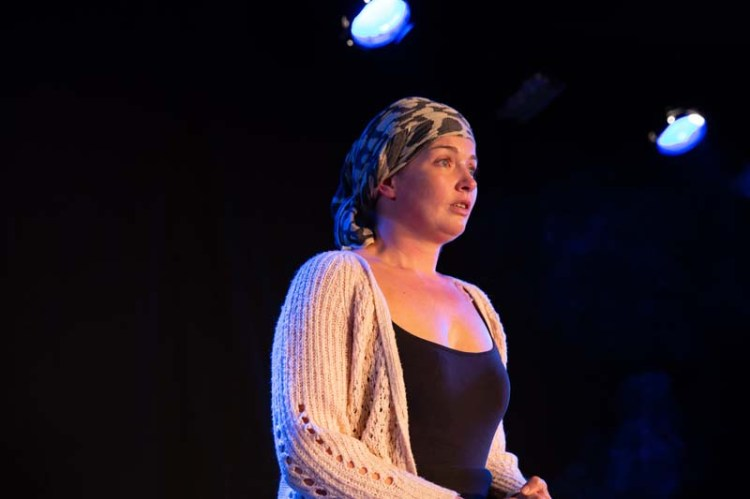 Ciara Pouncett as Ann in Claire Erasmus play,  Flotsam  at The Kings Head Theatre, London Photograph by Stephanie Claire.