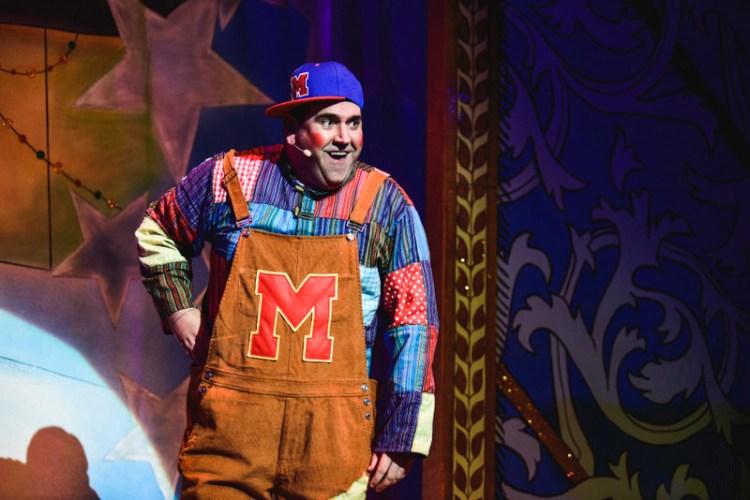 Richard Elis stars as Muddles in the Newport Riverfront pantomime, Sleeping Beauty. Photo Credit Kirsten McTernan