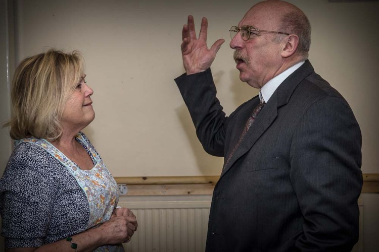 Eileen Symonds and Steve Saunders in Newport Playgoers presentation of Death of a Salesman by Arthur Miller which runs at Newport's Dolman Theatre from April 9-12. Photographs copyright: Paul Johnson 2019