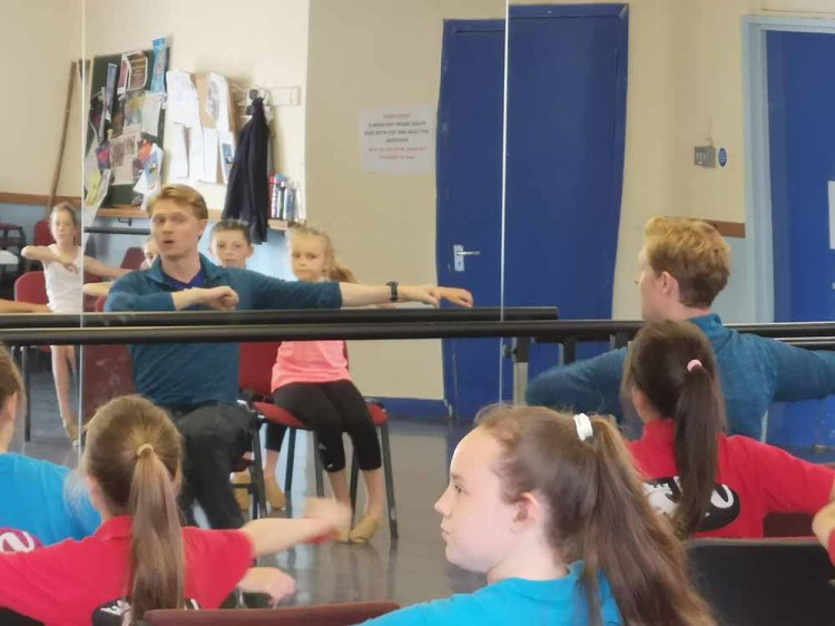 Matthew Malthouse presenting a masterclass at the BBO Dance Workshops in Newport's Dolman Theatre. Photo: Andy Howells