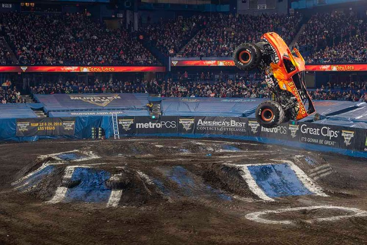 Fans will see hair-raising stunts performed by trucks such as El Toro in Monster Jam® at Cardiff's Principality Stadium on May 18, 2019.