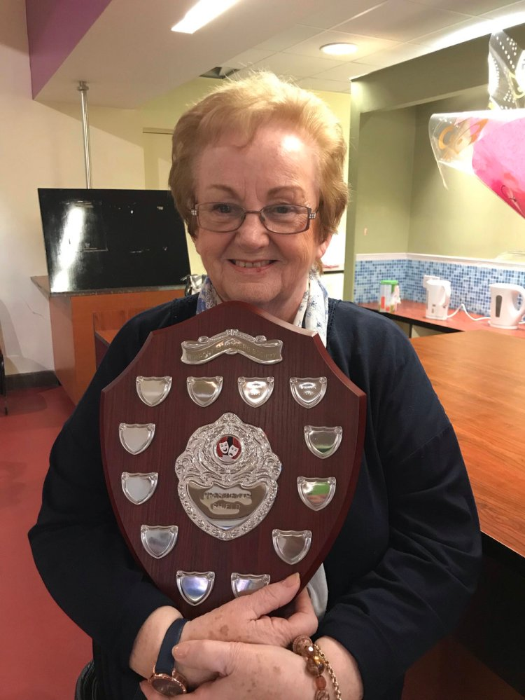 Audrey Aston with the Presidents Award . Photo: Clare Drewett