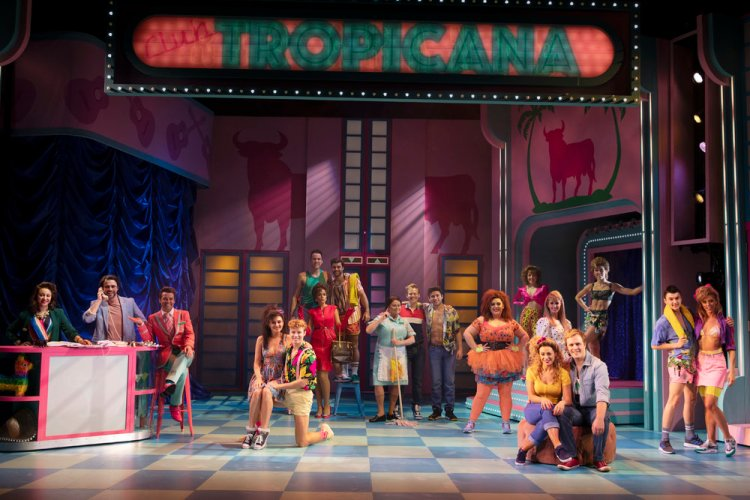 The cast of Club Tropicana which runs at Wales Millennium Centre until August 17, 2019.