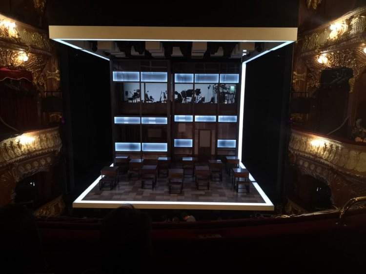 The stage is set for  Everybody's Talking About Jamie  currently running at The Apollo Theatre, London, Photo: Rachel Howells