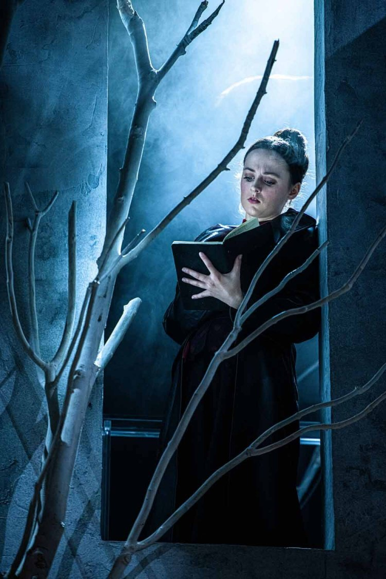 Eilidh Loan as Mary Shelley in Frankenstein which runs at Cardiff's New Theatre from October 28 to November 2, 2019. Photo by Tommy Ga-Ken Wan