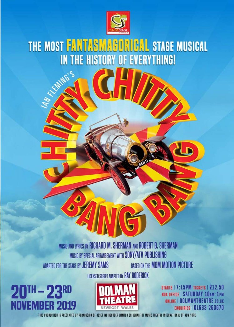Centrestage Cymru present Chitty Chitty Bang Bang at Newport's Dolman Theatre