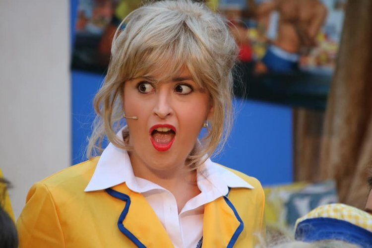 Elin Edwards raises a few eyebrows in Hi-De-Hi at the Everyman Theatre's Open Air Festival during Summer 2019.