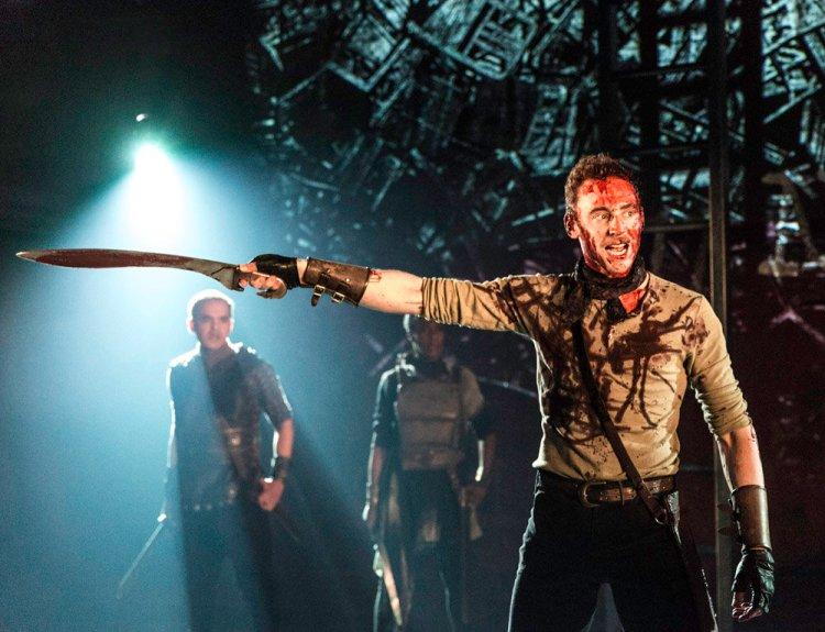 Tom Hiddleston in Coriolanus Photo by Johan Persson.