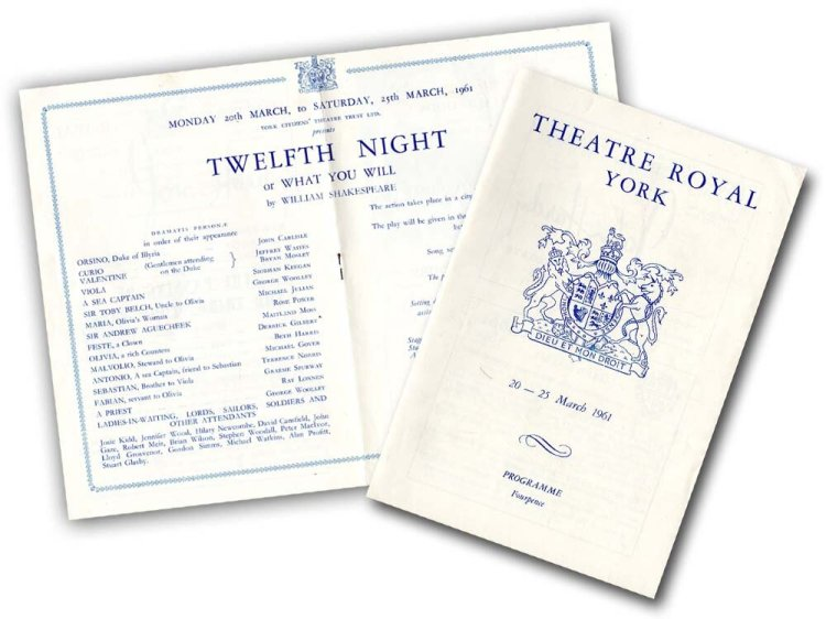 Programme for Twelfth Night, Theatre Royal, York, 1961