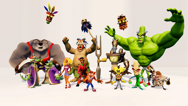 crash bandicoot n sane trilogy characters