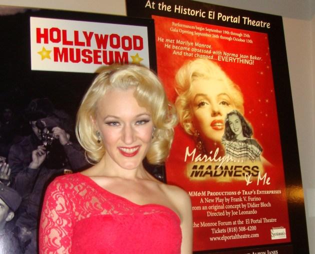 Alison Janes as Marilyn, photo by Margie Barron