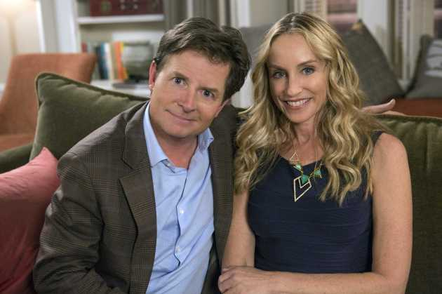 Michael J. Fox and Tracey Pollen (photo credit NBC)