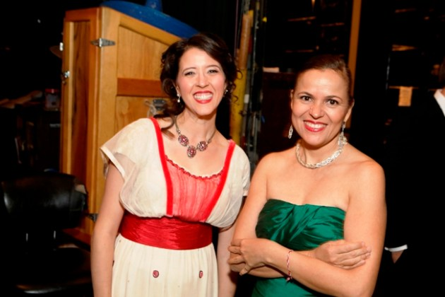 Lisette Oropesa (Rosalba) with Andrea Catan (Widow of Daniel Catan)