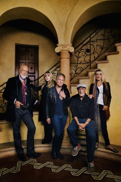Today: Mick Fleetwood, Stevie Nicks, Linsey Buckingham, John McVie, Christine McVie (photo by Danny Clinch)