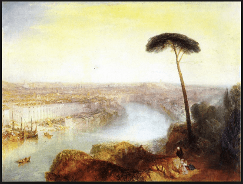 "Turner's 1835 painting ""Rome, From Mount Aventine"""