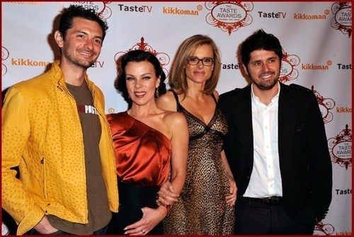 TV personality Gabriele Corcos, wife actress Debi Mazar, Kristine Lefebvre and husband chef Ludo Lefebvre