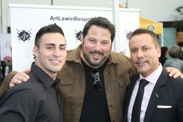 Actor Greg Grunberg with Custom Clothier Art Lewin & Son Anthony