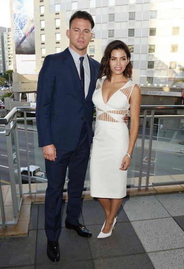 Channing Tatum with Wife, Jenna Dewar Tatum at Dizzy Feet