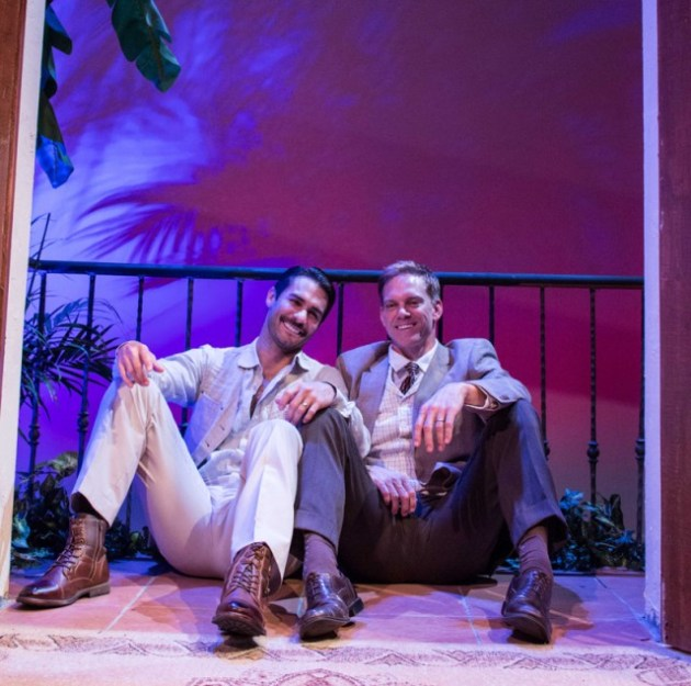 Ty Mayberry and Adam J. Harrington in Scott and Hem at the Falcon Theatre (photo by Jill Mamey).