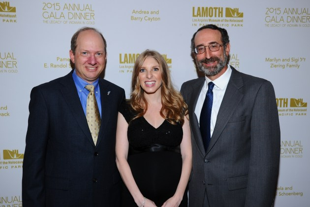 Honorees Randolph Schoenberg, Stacey JanksJasper, Richard Jones attend the LA Museum of the Holocaust 2015 Gala(Photo by VinceBucci)