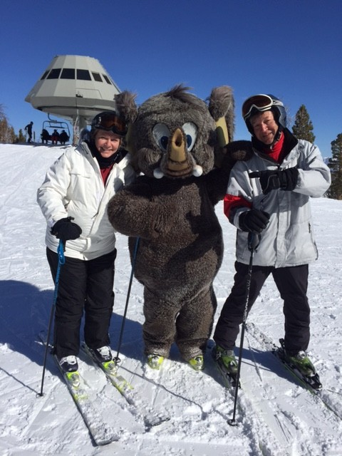 SKI BUMS BOOKENDING MASCOT WOLLY