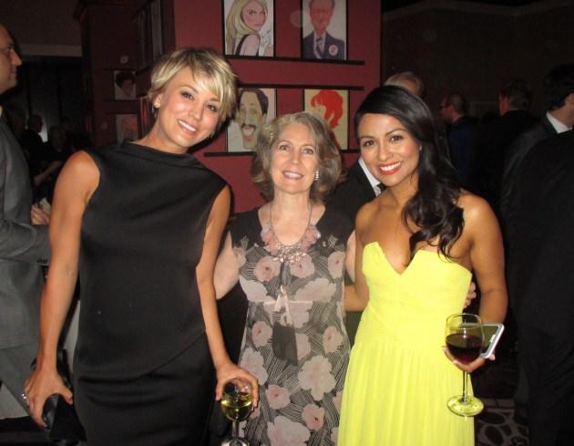Kaley Cuoco, Margie Barron, Karen David enjoying A Night At Sardi's