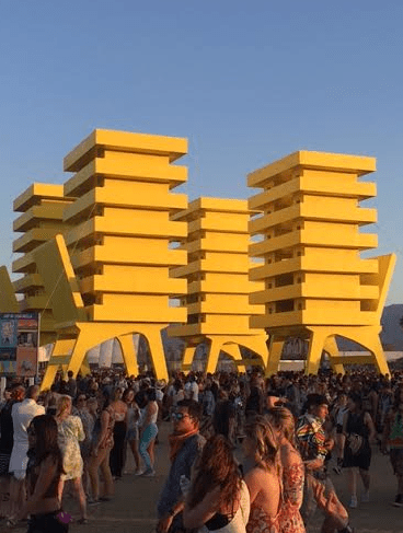 """""""Katrina Chairs"""" by Alexandre Arrechea hints at how architecture will need to evolve with global climate change. The artist is from the island of Cuba, which probably has something do with the perspective of the piece."""