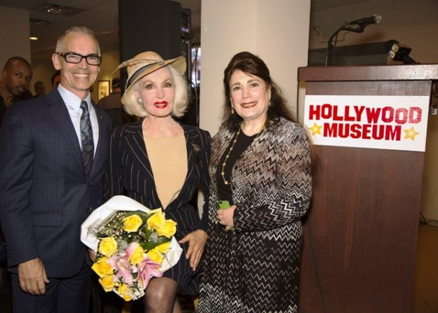 City Council Member, Mitch O'Farrell, Julie Newmar & Donelle Dadigan, Founder & President, Hollywood Museum (Photo Credit: Bill Dow)