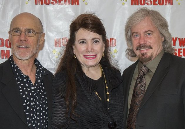 Donelle Dadigan with Brothers, Barry & Stanley Livingston (My Three Sons) at Hollywood Museum (Photo Credit - Bill Dow)