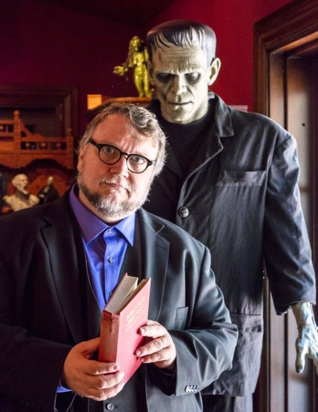Guillermo del Toro & Friend at Monsters Exhibit at LACMA (Photo Credit - Insight Editions)