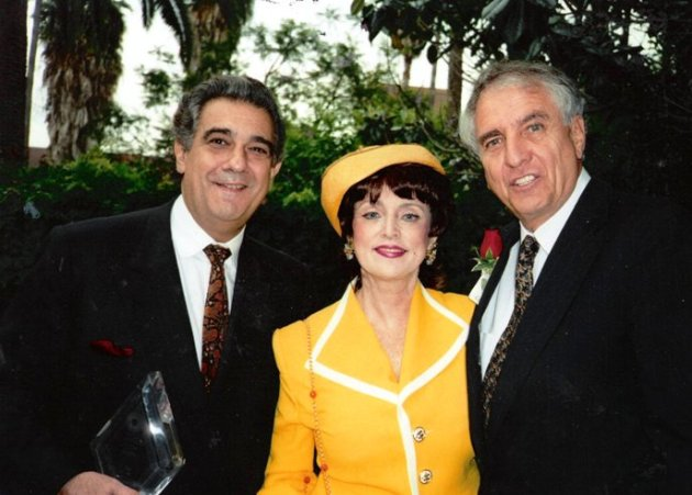 Columnist Marci Weiner with Placido Domingo & Gary Marshall