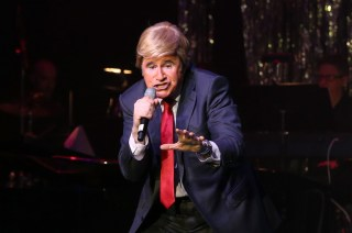 Richard Kind (as Donald Trump) performs at Les Girls 16 at the Avalon Hollywood (Photo by Todd Williamson/ WireImage)