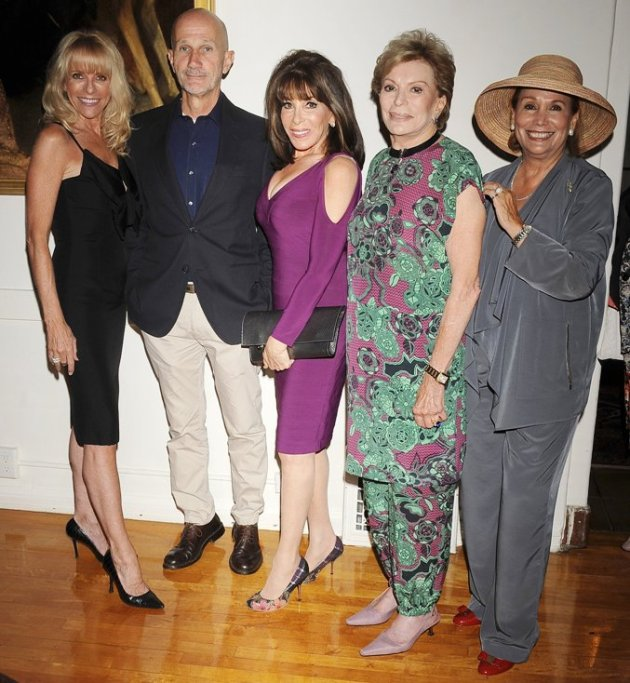 Elizabeth Mason, Daniel Orlandi, actress Kate Linder, Mumsey Nemiroff, Linda Schwartz at BHWC Luncheon