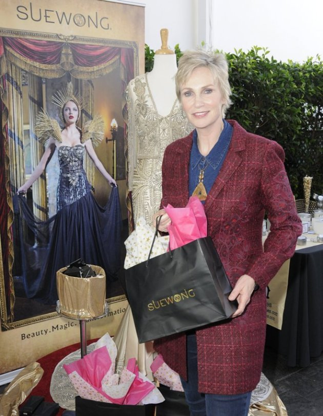 Primetime Emmy Nominee Jane Lynch with Sue Wong Couture (Photo Credit - Doris Bergman)