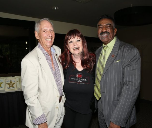 Star Recipient the Legendary Gypsy with Joey English & former Mayor Ron Oden.(Photo credit: Pam Kraus & Gregg Felson)