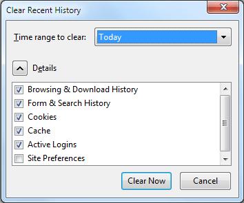Delete-history-Mozilla
