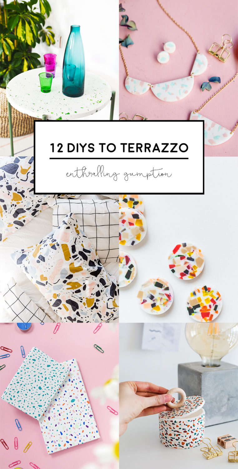 Discover how to incorporate terrazzo at your home and fashion choices by following these 12 DIY tutorials from some of the best bloggers out there.